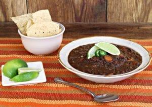 Black Bean Soup - El Rincon
